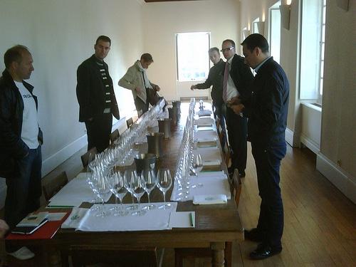 degustazione di vino professionale