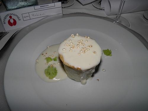 Sformato di polenta con erborinato e broccoli