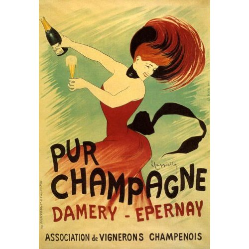 Etichetta di Champagne del periodo della Belle Epoque